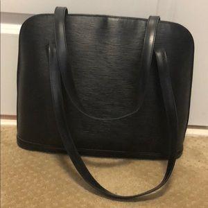 Louis Vuitton Black Epi Lussac Leather Bag